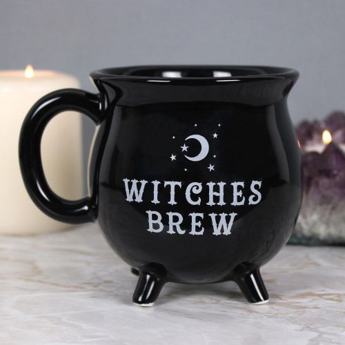 Witches Brew Black Cauldron Shaped Mug Gift